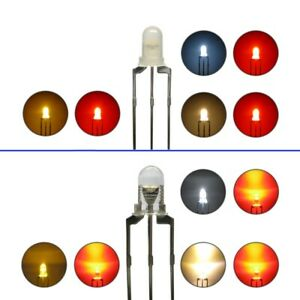 Duo LED 3mm Bi-Color Leds 3pin Digital Changing Light Loks Colour Choice