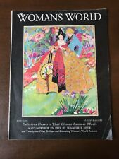 Vintage Women's World Magazine July 1930 Issue In Full Color