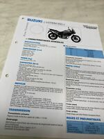 Suzuki DL650 V-Strom L2 2012 Technical Datasheet Motorbike Control Strut DL 650