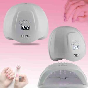 SUN X 54W UV LED Lamp Nail Dryer Cure Gel Polish Infrared Sensor Timers