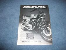 """1982 Yamaha Heritage 650 Vintage Motorcycle Ad """"We Discover A Way to Improve..."""""""