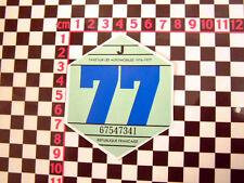 1977 disque de taxe français-CITROEN 2CV DYANE HY van DS AMI 8 RENAULT 4CV 4 h ripple
