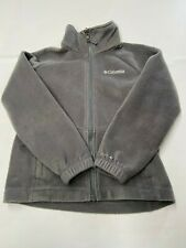 Kids COLUMBIA Gray Zip Up Omni Heat Fleece Jacket Sz S(8)