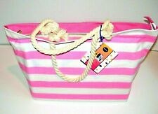 Large Pink & White Striped Beach Bag by Nivea Suncare - NEW