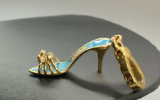 Retired Juicy Couture Collector's Charm Turquoise High Heel Shoe