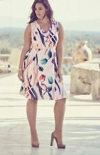 NEW ADRIANNA PAPELL  Floral Print  Fit & Flare Dress.SZ:16W