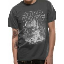 Grey Star Wars Classic Hope Montage Mens T-shirt Top 2xl