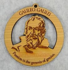 Galileo Galilei-Astronomy Space Telescope Science Timber Green wooden ornament
