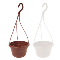 Hanging Flower Plant Pot Chain Basket Planter Holder Home Garden G bf