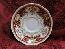 Queen Anne Regency Red, Floral Sprays with Red Border: Saucer (s) Only, No Cup