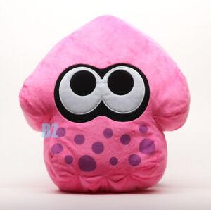 "Inkling Squid Cushion Plush Neon Pink 14"" Splatoon 2 Little Buddy 1662"