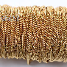 GNAYY 10meter tiny 1.8mm Gold stainless steel Cowboy Chain Jewelry Findings DIY