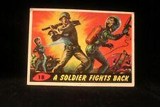 "Vintage 1962 Mars Attack Trading Card ""A Solider Fights Back"" #18  VG EX"