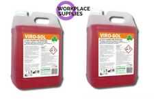 Clover Viro-Sol Virosol 2x5Ltr Heavy Duty Citrus Cleaner Degreaser 10Ltr 326