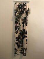 Boston Proper Tropical Floral  Print Strapless Maxi Dress Size Small NWT $139
