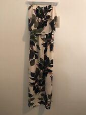 Boston Proper Tropical Floral  Print Strapless Maxi Dress Size Small NWT $139