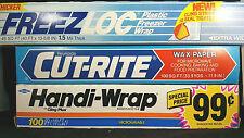 Vintage Cutrite Handi Wrap Freezloc Lot 3 1980s 1990s Stage Set Prop New