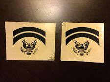 Vietnam US Army Rank Insignia Sticker Decals For Helmet Liners- Specialist