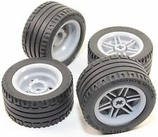 LEGO 8pc Technic Wheel and Tire SET (Mindstorms nxt ev3 tyre) 56145 44309