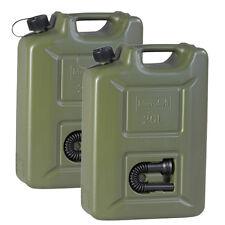 2er Set Benzinkanister PROFI 20L oliv NEU 2x ARMY Kraftstoffkanister 20 Liter UN