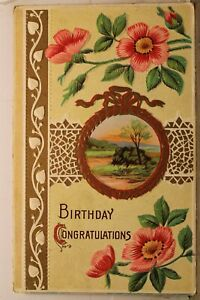 Greetings Birthday Congratulations Postcard Old Vintage Card View Standard Post