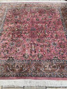 Indo Sarouk Teppich Carpet Rug Orient Art Antik Perser Kunst Vintage Alt Quadrat