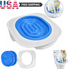 Cat Toilet Training Kit Litter Tray Box Trainer Pet Kitten Cleaning Potty