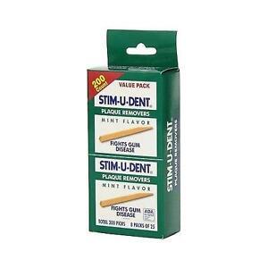 Stim-U-Dent Plaque Removers Mint Flavor, Fights Gum Disease - 200 ct Value Pack