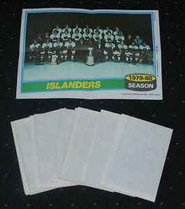 1980-81 Topps NHL Hockey Team Posters Set of (16)-NM/MT