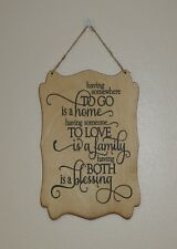 home love family blessing hanging plaque sign