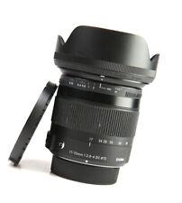 Sigma DC 17-70mm F2.8-4 Macro OS Contemporary Lens - Nikon + F/R Lens Caps +Hood