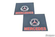 Pour s'adapter MERCEDES 2pc paire UV Caoutchouc Arrière Bavette Garde-boue Bavettes rouge 60x50cm