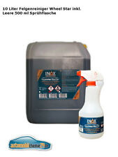 INOX Wheel Star 10l brake dust and rust remover + Empty 500ml Spray Bottle