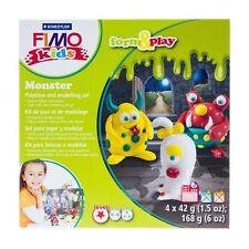 STAEDTLER Fimo Kids Oven Hardening Modelling Clay Form & Play Scene Set Monster