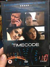 Timecode region 2 DVD (2000 Salma Hayek drama movie) *** RARE ***