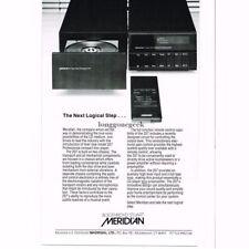 1986 Meridian Model 207 Professional CD Player Stereo Hi-Fi Vintage Ad