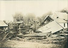 1924 Press Photo Overturned Vehicle Tornado Damage 1920s