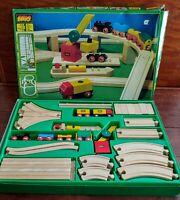 BRIO WOOD TRAIN SET 1980's 55 pcs. COMPLETE -  NEW IN BOX. NO.33143 RARE