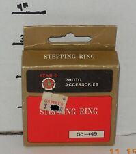 Vintage Star-D 55 mm to 49 mm Stepping Ring with Box Made in Japan