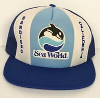 SEA WORLD 1988 Trucker Hat Snapback Cap Foam Mesh Shamu Unworn Vintage