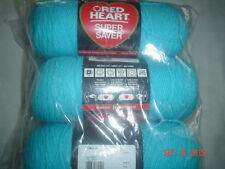 3 Skeins of Red Heart Super Saver WW Yarn in Turqua   #0512
