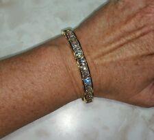 Ross Simons 18k yellow gold vermeil Sterling silver emerald cut wide Bracelet