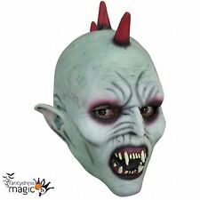 Childs Boys New Latex Scary Vampire Punk Demon Halloween Horror Fancy Dress Mask