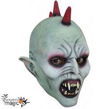 Childs Boys New Latex Scary Vampire Punk Demon Halloween Horror Fancy Dress Mask