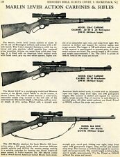1970 Print Ad of Marlin Model 336-C 336-T Carbine & 444 Lever Action Rifle