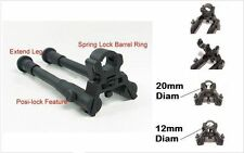 "Adj 8"" to 10"" Barrel-Mounted clamp-on Foldable Hunting For Rifle Bipod Mount"