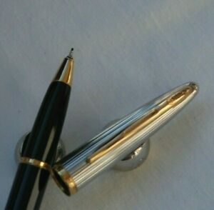Pen Roller Ball Waterman Carene Luxury IN Lacquer Blue And Plate Silver W123