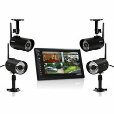 "Uniden UDS655 Wireless Surveillance Record System w 4 UDSC15 CAMERA & 7"" Monitor"