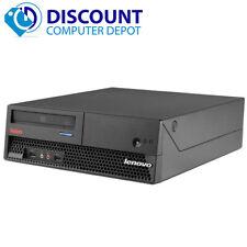 Fast Lenovo Windows 10 Desktop Computer Sff Core 2 Duo Pc 2.66Ghz 4Gb 500Gb Dvd