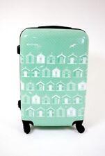 Lightweight hard shell Suitcase green beach hut 4 wheeled  24 inch, Luggage Case